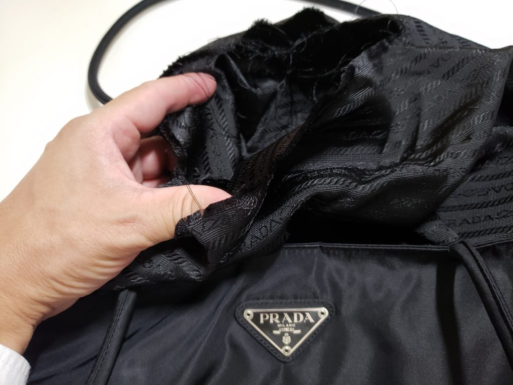 バッグのうち袋が破れた【島田市バッグ修理】