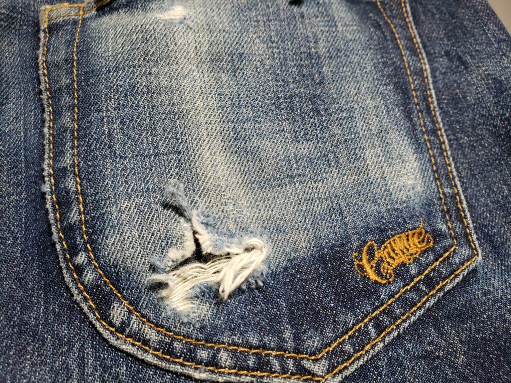 ジーンズのポケットの破れ修理事例を紹介します!