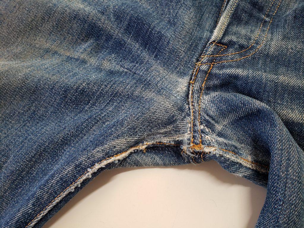 【ジーンズリペア】股の破れ修理の事例を紹介させて頂きます!