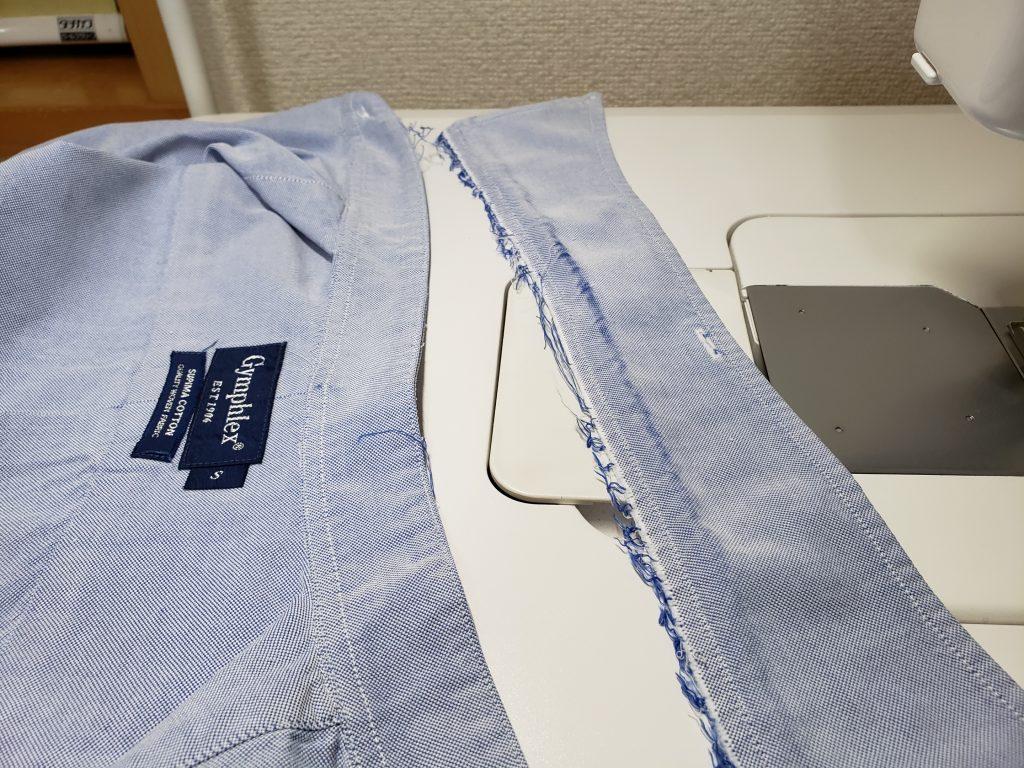 【リフォーム事例】シャツの襟が傷んだら裏返しにすれば大丈夫!