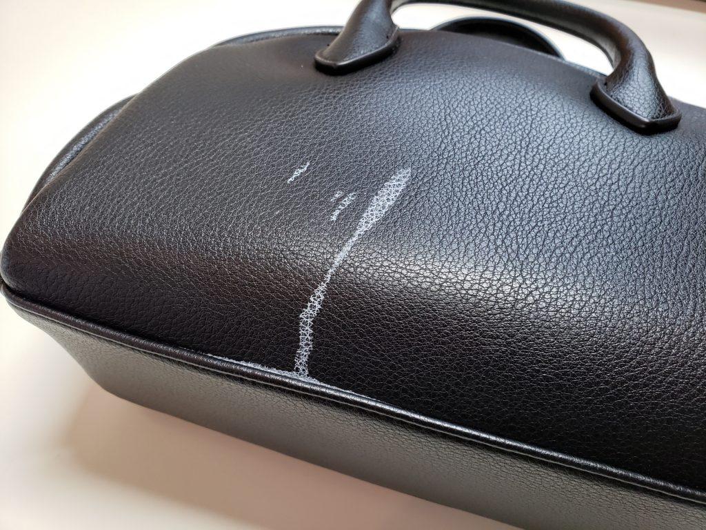 【ご注意ください!】バッグに付いたアルコール消毒のシミ除去事例